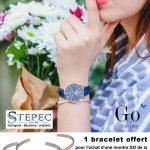 Stepec Bijoux vous offre un bracelet pour l'achat d'une montre Go